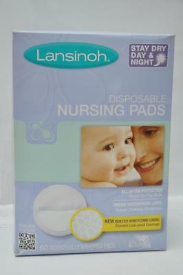 4 pack Lot of Lansinoh Disposable Nursing Pads Stay Dry 60 Per Pack (240 Total!)
