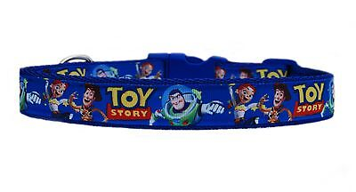 "BLUE  BUZZ WOODY JESSIE "" TOY STORY "" medium large dog collar & or lead set 25mm"