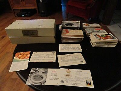 Vintage American Home Menu Maker Box W/ 100's Recipes Inside