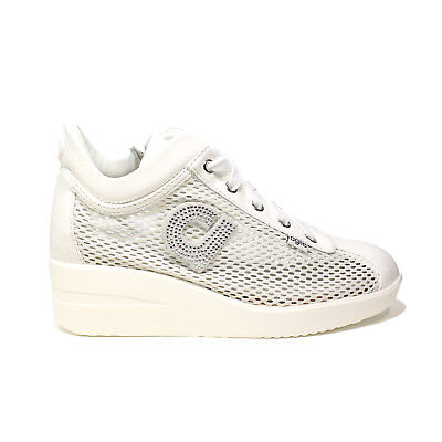 Agile by Rucoline sneaker donna colore bianco 226 A CHAMBERS STRASS PE 2018 3590b7b9171