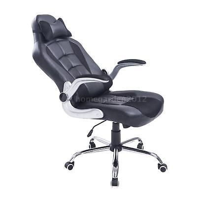 Adjustable Racing Office Chair PU Leather Recliner Gaming Computer V8E4