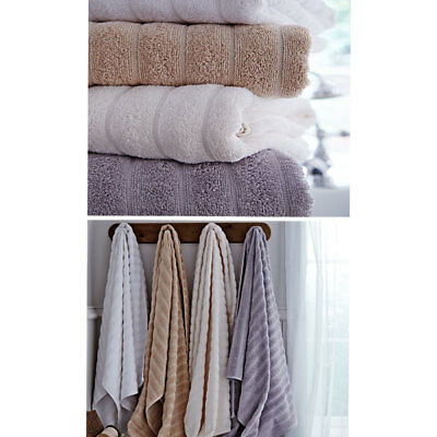 Bianca Cotton Soft Ribbed 100% Cotton Guest Towel, 2 Pack
