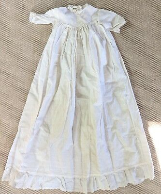 Antique Baptism Christening Embroidered Lace Gown Baby Doll Dress