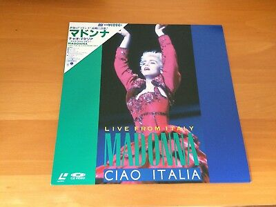 Japan Laser Disc Madonna Ciao Italia Live From Italy Obi