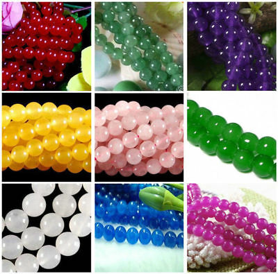 Series I lot natural gemstone spacer loose beads 4mm 6mm 8mm 10mm round stone15""