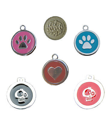"""Pet  Dog Id Tags  """" ENGRAVED FREE""""  SMALL 25mm"""