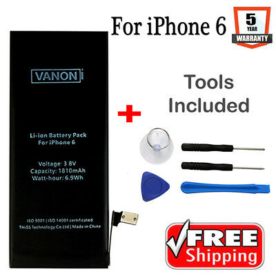 OEM Quality Replacement Internal Battery For Apple iPhone 6 1810mAh + Tool Kit