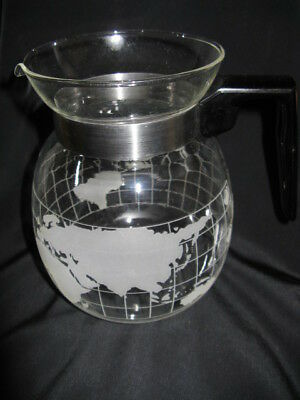 Vintage Nestles World Globe 6 Cup Coffee Pot With Label No Lid