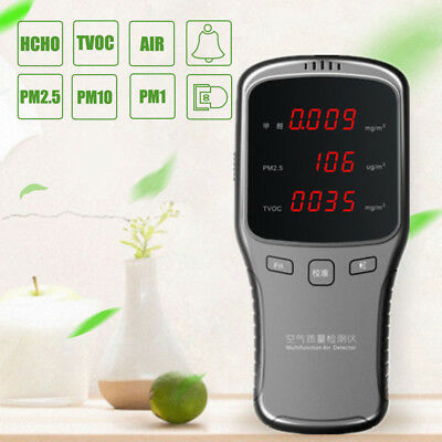 Digital Formaldehyde Detector HCHO PM2.5 TVOC Meter Air Quality Tester Indoor