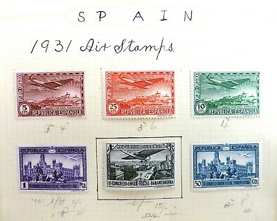 SPAIN 1931 Arms Mounted Goya Mounted/Used on 3 Pages CG304