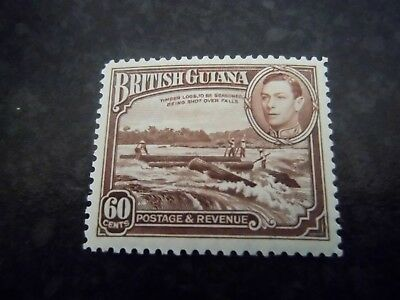 BRITISH GUIANA KGVI mounted mint 60 cent stamp Catalogued  £21