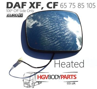 DAF XF105-106, CF65-85 Wing Wide Angle Mirror Glass Lens Heated Genuine Quality