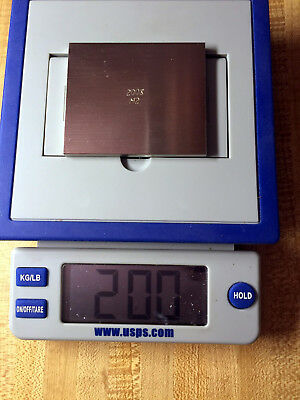 """200 g grams - STAINLESS STEEL 3"""" x 2 1/2"""" x 3/16"""" WEIGHT CALIBRATION STANDARD"""