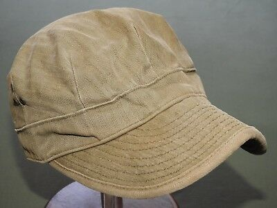 "US Army Post-WW2 Korea 8 POINT ""ENGINEER"" HBT FATIGUE CAP Vtg GI Field Hat RARE"