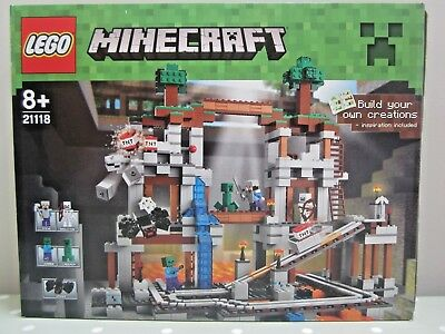 Lego Creeper from Sets 21115 First Night 21118 The Mine Minecraft NEW min012