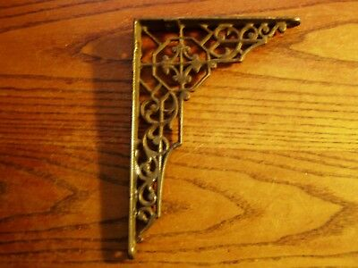 "Vintage CAST IRON  SHELF BRACKET  5"" x 7"" REAL"