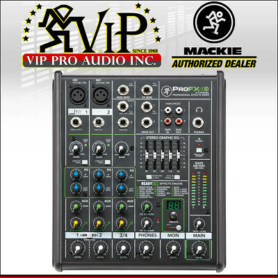 Mackie ProFX4v2 4-Channel Live Sound Pro Mixer Board with Built-In Effects