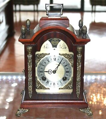 Franz Hermle Chime Moon Phase Mantle French Style Clock