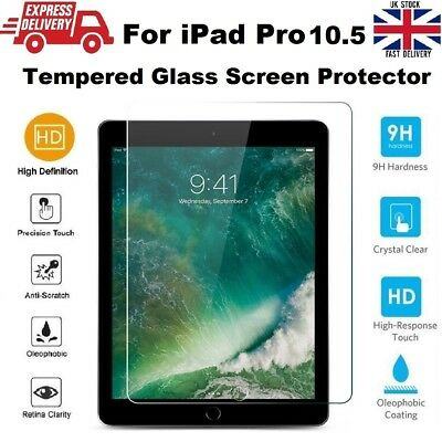 Anti Scratch 9H Hardness Tempered Glass Screen Protector for iPad PRO 10.5 inchs