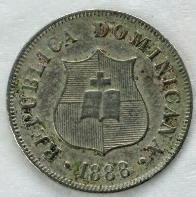 Dominican Republic 2-1/2 Centavos, 1888