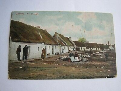 Ireland Co.Galway  The Claddagh Peacock Series early postcard