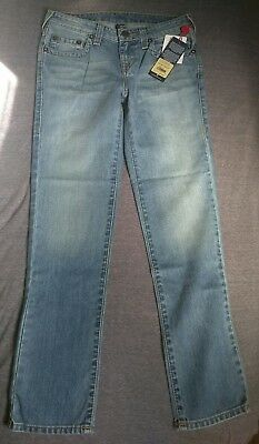 New w/ Tags True Religion Jeans Geno Single End Beaten Blue Boys Size 14