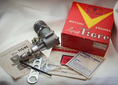 New Old Stock Vintage Super Tigre G21 40 Remote Controlled Engine Italy 1965