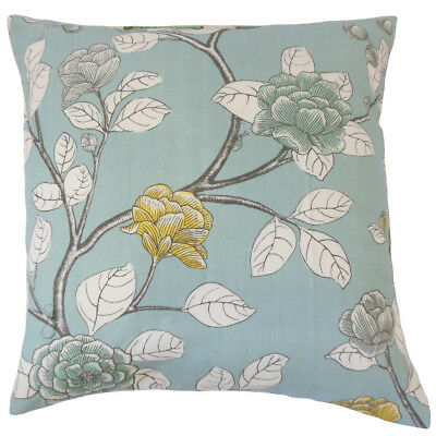 The Pillow Collection Behati Floral Bedding Sham Blue Yellow King//20 x 36