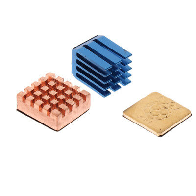 3PCS Copper Cooler Heat Sinks Cooling Fin & Adhesive Tape For Raspberry PI 3