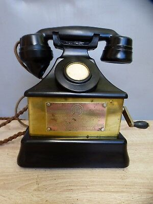 A GOOD ATM MINERS SURFACE TYPE MAGNETO PYRAMID TELEPHONE no77 DATED 1948