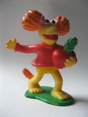 """RED stamped 1988 Henson Associates FRAGGLE ROCK plastic figurine about 2.5"""" tall"""