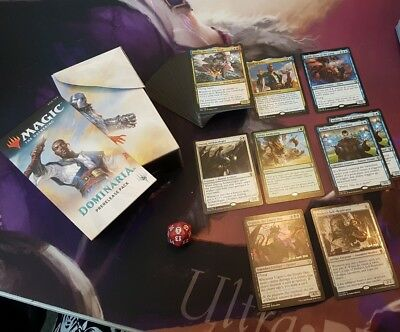 Dominaria Pre-Release Pack Complete includes all rare and promo cards.
