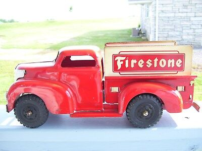 Marx Firestone Truck, 14In. Totally Original 2Nd Edition, Good Cond. For Its Age