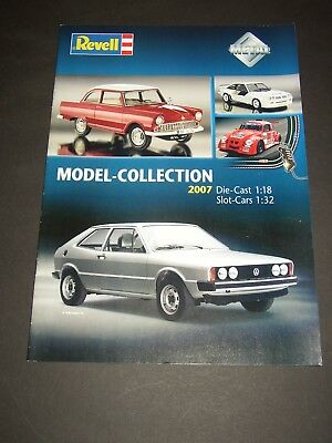 REVELL Model Collection 2007 Cars Aircraft Slot 16 Seiten DIN A4