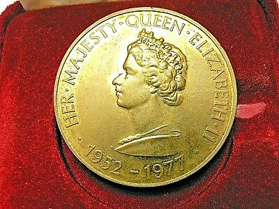 Isle of Thanet  Queen's 1977 Silver Jubilee Medallion, in box