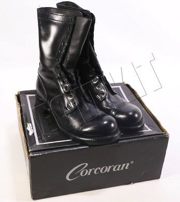 """Corcoran 10"""" Original Jump Boots 10.5E (WIDE) Black AIRBORNE US Army Leather"""