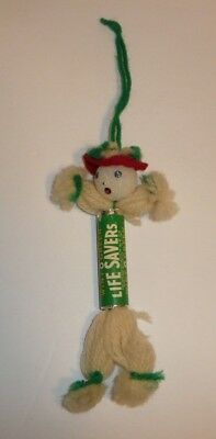 Vtg LIFE SAVERS Roll Wint-O-Green Breath Mints Package Turned into Xmas Ornament