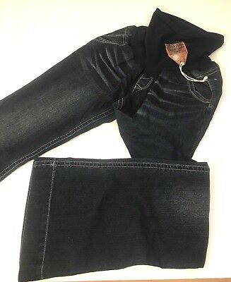 Wallflower Maternity Jeans Sz L Large 12/14 Boot Cut Flap Pockets Secret Panel