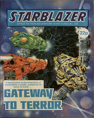 Gateway To Terror,starblazer Space Fiction Adventure In Pictures,no.142,1985