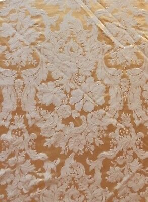 """NWOT Vintage Waterford Tablecloth Marquis Margaret Ivory Gold 65x80"""" HTF"""