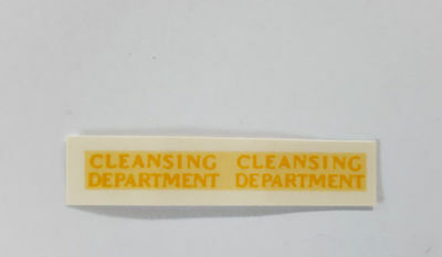 Matchbox 1-75 38a Karrier Cleansing Dept Decal / Transfer - Regular Wheels