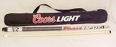 """Coors Light Beer Two Piece 57"""" Pool Cue Stick  With Case"""