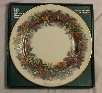 1981 Lenox Colonial Christmas Wreath Virginian The 1St Colony Collector Plate