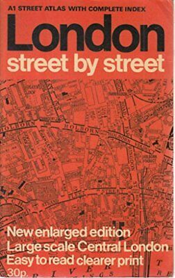 "London Street by Street Atlas: 1m-3"" Paperback Book The Cheap Fast Free Post"