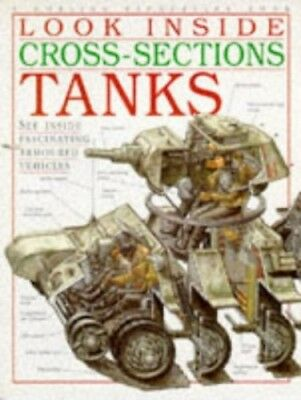 Look Inside Cross-Sections: Tanks Pb Paperback Book The Cheap Fast Free Post
