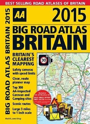 AA Big Road Atlas Britain 2015 by AA Publishing Book The Cheap Fast Free Post