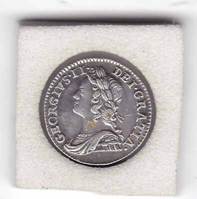 1746  King  George II  Maundy Two  Pence  (m2d)  Silver (92.5%) Coin