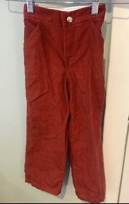 Health-tex Vintage 70's Boys Rust Red Orange Corduory Pants Size 6