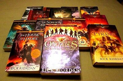15 Rick Riordan Book Lot Complete Percy Jackson Heroes Of Olympus Kane Chronicle