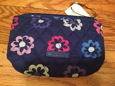 Vera Bradley Small Cosmetic Bag in Ellie Flowers With Mirror NWT